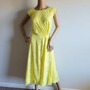 NWT JASON WU ELOQUII YELLOW FLORAL DRESS SIZE 16